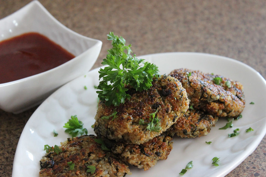 Quinoa and Spinach Patties Recipe by Manjula