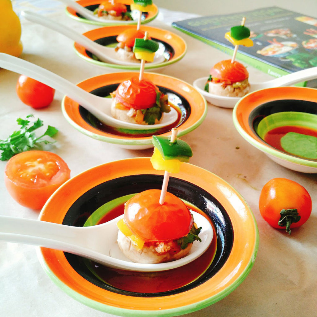 Stuffed Mushrooms with tomatoes and oats Recipe by Dhara Shah
