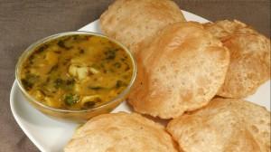 Aloo Puri (Potatoes with Fried Puffed Bread) Recipe by Manjula