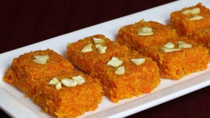 Carrot Burfi (Gajar Ki Burfi) Recipe by Manjula
