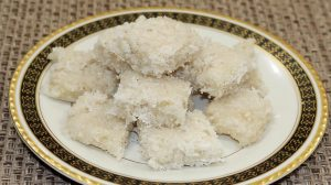Coconut Almond Burfi Recipe by Manjula