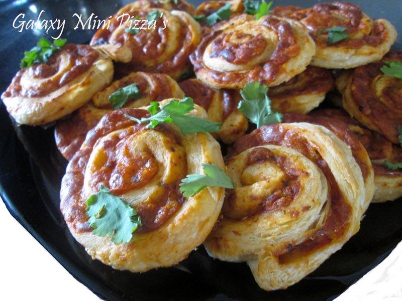 Galaxy Mini Pizzas Recipe by Deepti