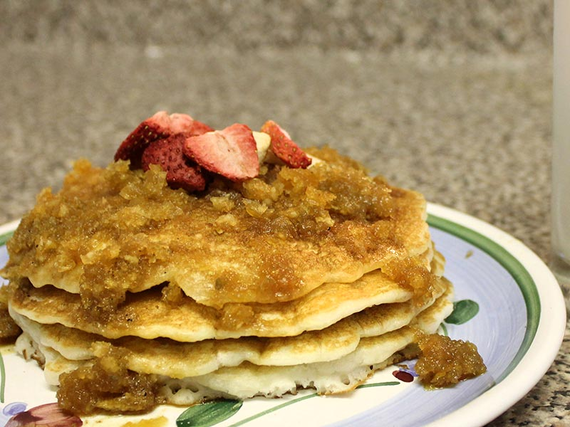 Vegan Coconut Flour Pancakes with Coconut Syrup