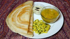 Dosa (Rice and Urad Dal Crepe) Recipe by Manjula