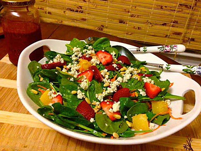 Spring Spinach and Strawberry Salad Recipe by Emily M. Walsh