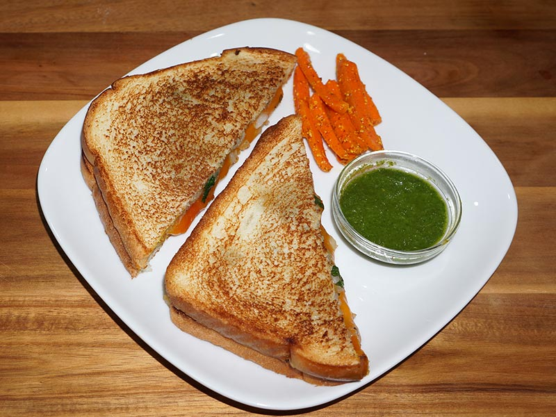 Grilled Potato Sandwich Recipe by Manjula