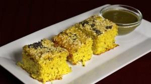 Handvo Baked Spicy Lentil Cake Recipe by Manjula