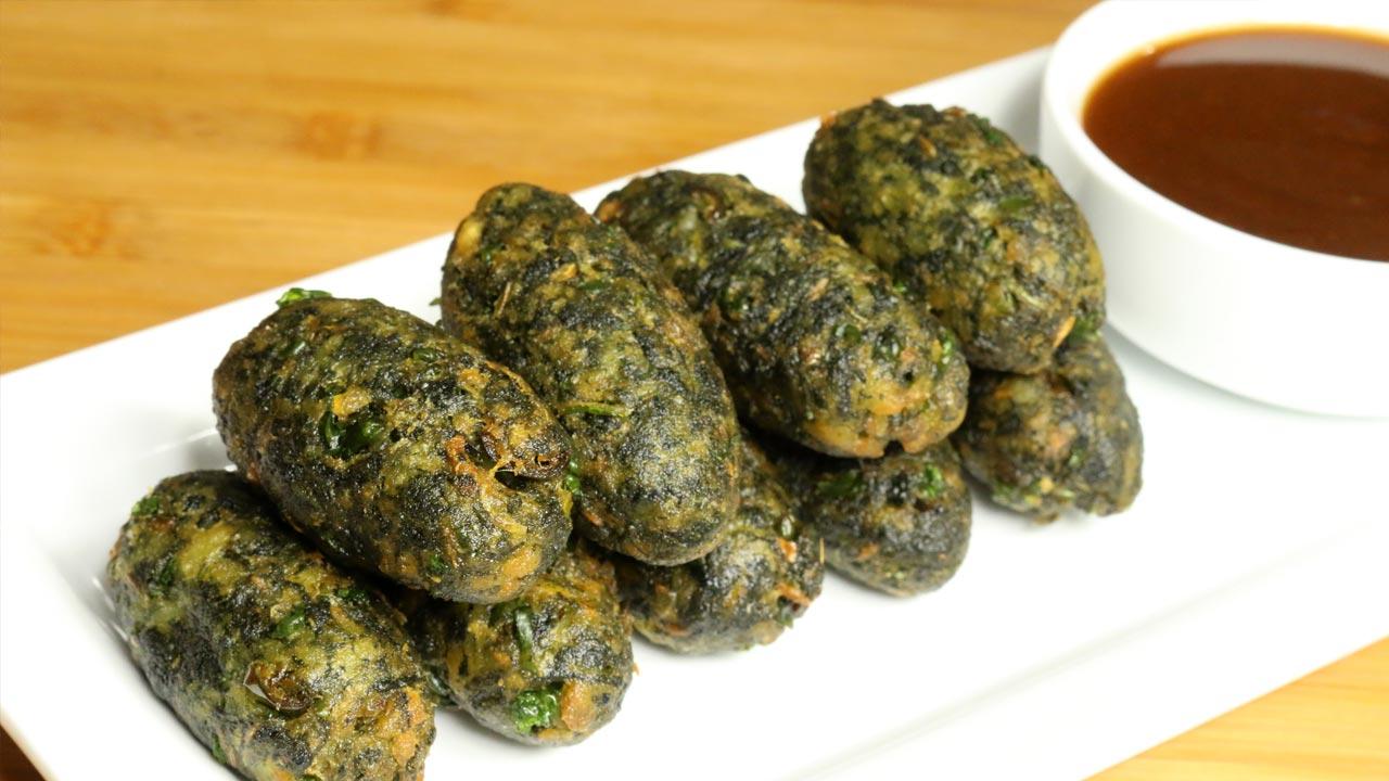 Hara Bhara Kabab - Vegetable Cutlet - Manjula's Kitchen - Indian Vegetarian Recipes