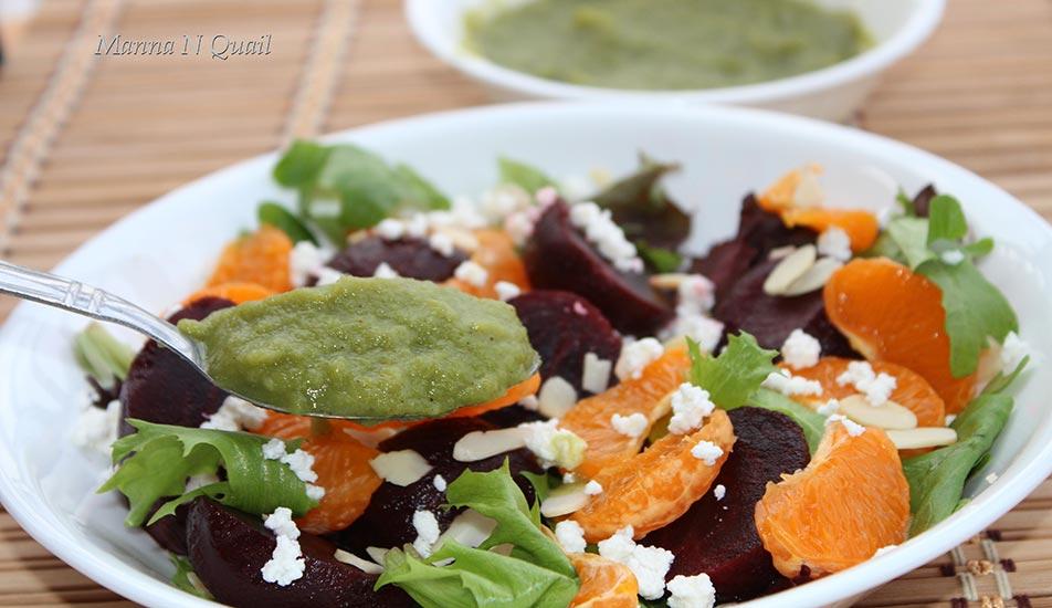 Beet Salad with Mango Dressing Recipe by Jeeja Jaison