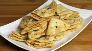 Nimki - Salted Fried Crackers Recipe by Manjula