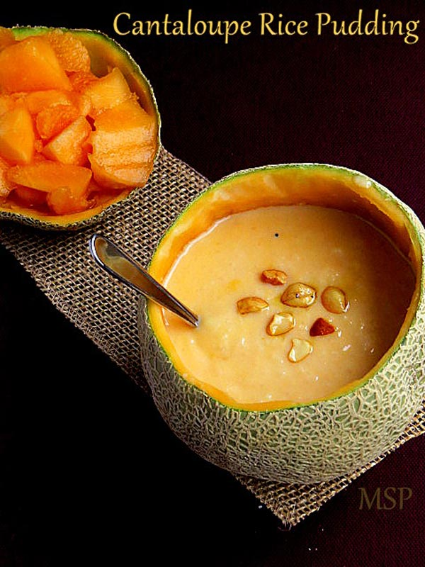 Cantaloupe Rice Pudding Recipe by Nisha