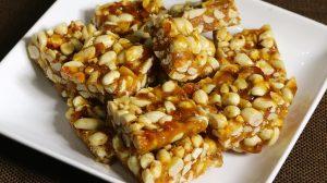 Peanut Chikki - Peanut Brittle, Homemade Candy Recipe by Manjula