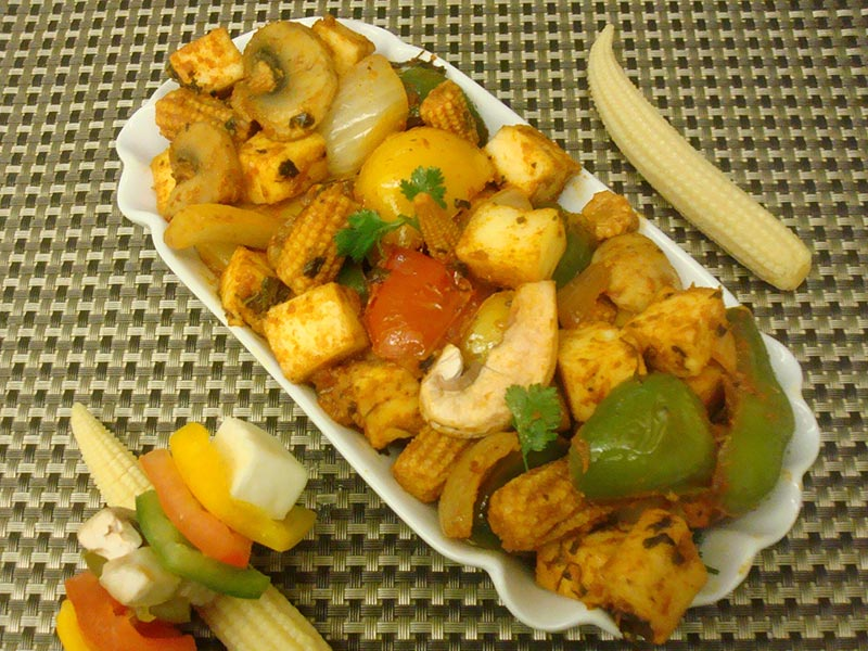 Paneer Baby corn Bell pepper Stir Fry Recipe by Pooja Agarwal