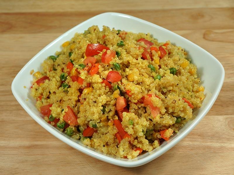 Quinoa Vegetable Pilaf Recipe by Manjula