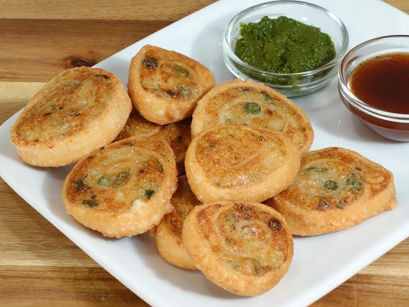 Samosa Pinwheels Recipe by Manjula