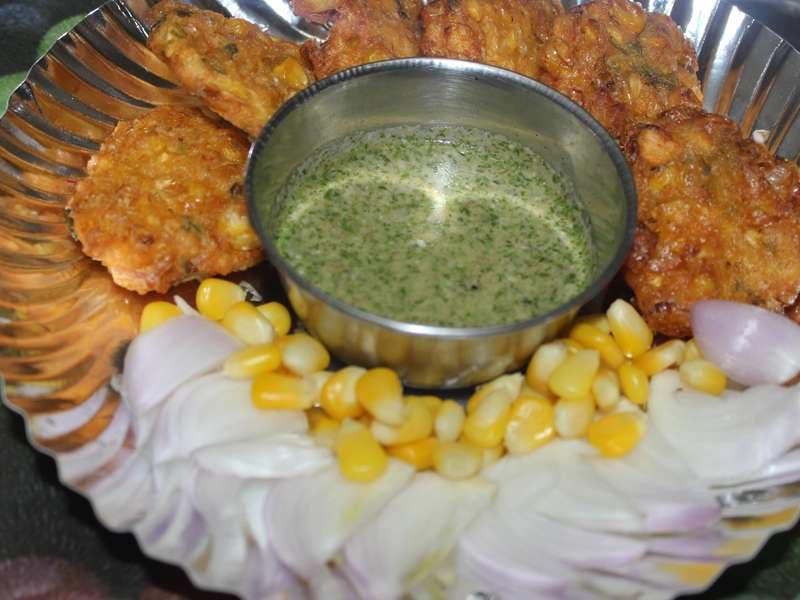 Sweet Corn Vada Recipe by Santosh Pandey