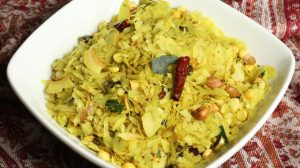 Spicy Chivda (Poha) Recipe by Manjula