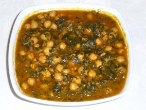 Chole Palak (Spinach Chickpea)