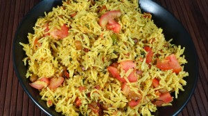 Tomato Rice (Pulao) Recipe by Manjula