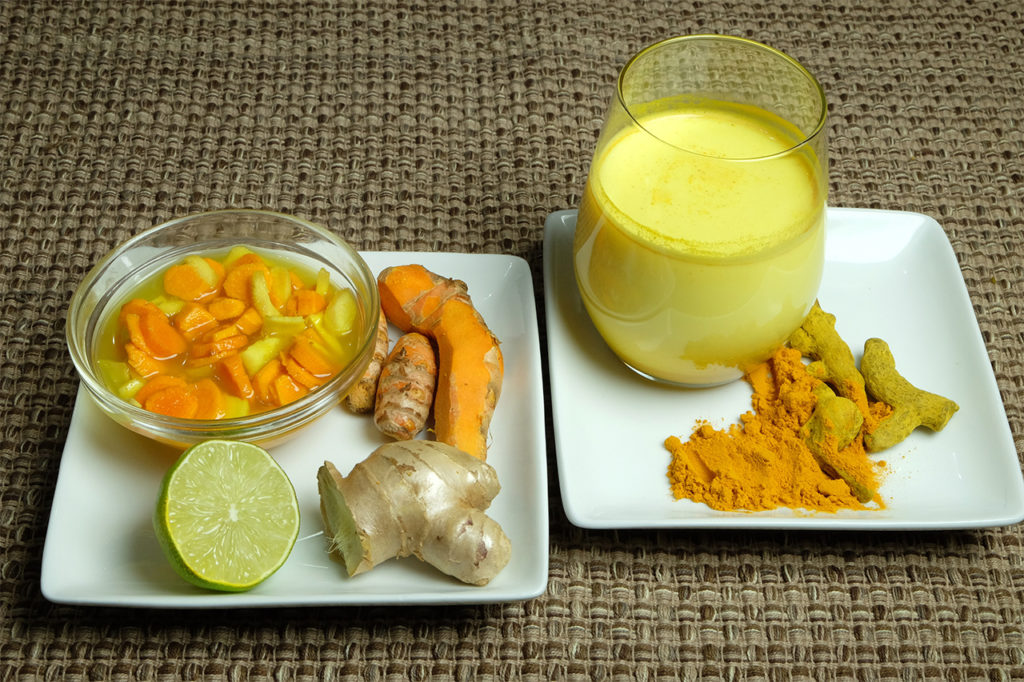 Tumeric Relish and Tumeric Latte drink
