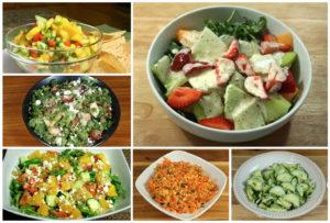 Receitas de saladas de verão por Manjula