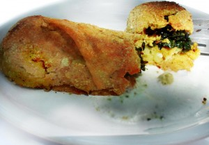 Spinach and Tofu Stuffed Potato Rolls