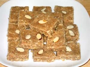 Almond Cashew Burfi Recipe by Manjula