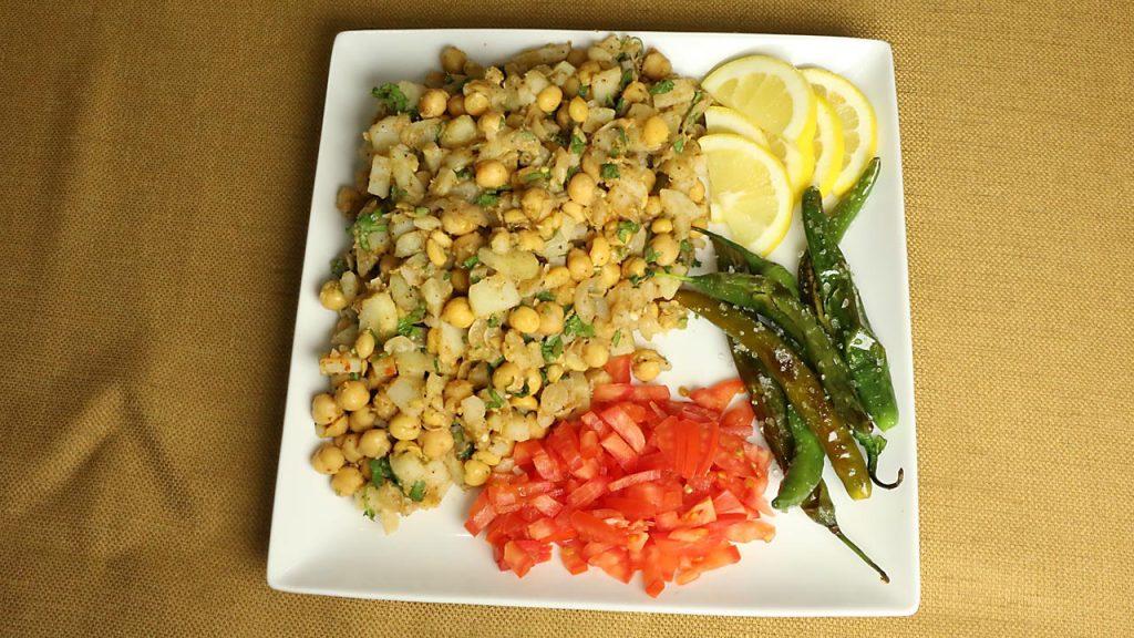 Aloo chana chaat recipe by Manjula