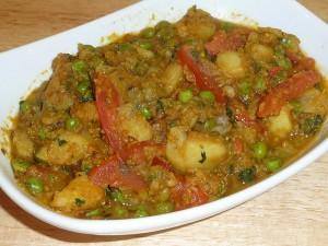 Aloo Mattar (Potatoes and Green Peas)