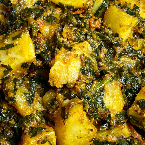 Aloo Palak (Spinach with Potatoes)