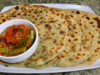 Aloo Palak Paratha (Flatbread with Potato and Spinach stuffing)