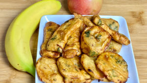 Apple Banana Pakora, Bhajia, Fritters