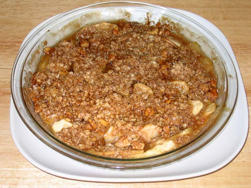 Apple Crumb Pie Recipe by Manjula