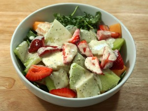 Arugula Melon Salad Recipe by Manjula