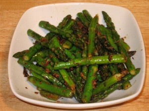 Asparagus with Ginger Recipe by Manjula