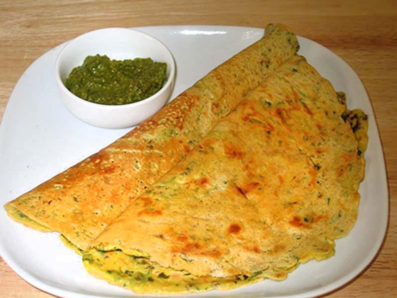 Besan Puda - Cheela (Gram Flour Dosa)