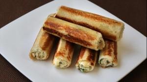 Bread Paneer Rolls