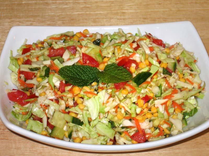 Cabbage Chana Dal Salad
