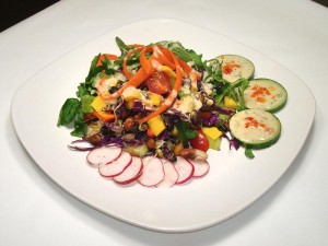 Mixed Sprouts and Arugula Green Salad with White Bean Dressing