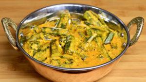 Dahi Bhindi (Okra with Yogurt Gravy)