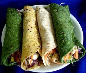 Colorful Veggie Wrap