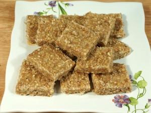 Flax Seed Burfi (Flaxseed Healthy Bar)