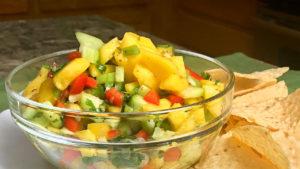 Fresh Mango Salsa Recipe by Manjula