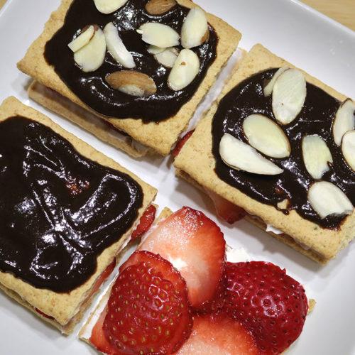 Fruit and Cracker dessert Recipe by Manjula