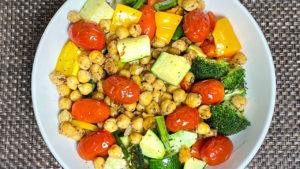 Grilled Veggie Healthy Bowl (Air Fryer Recipe)