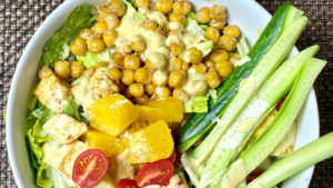 Healthy Chickpea And Tofu Salad