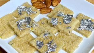 Instant Badam Burfi - Cozinha de Manjula 2