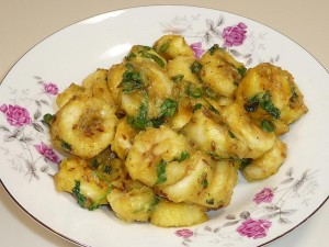 Kela Ki Subji (Banana Curry)