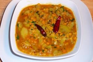 Laucki Chana Dal (Bottle Gourd, Ghiya, Doodhi)