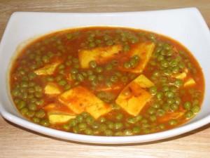 Mattar Paneer (Green Peas With Cheese)
